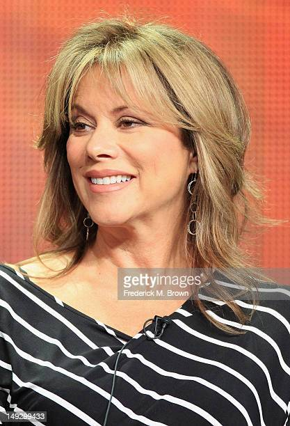 Actress Nancy Lee Grahn speaks onstage at the 'General Hospital' panel during day 6 of the Disney ABCTelevision Group portion of the 2012 Summer TCA...