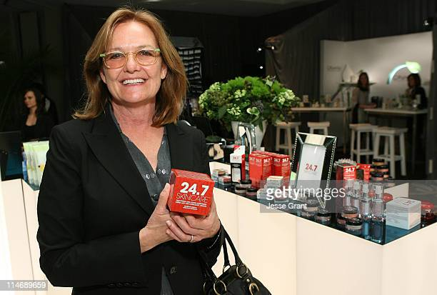 Actress Nancy Lenehan attends the CVS Pharmacy Reinventing Beauty Bar at the Access Hollywood Stuff You Must Lounge produced by On 3 Productions held...