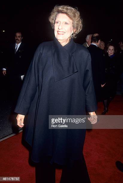 Actress Nancy Marchand attends the Jefferson in Paris New York City Premiere on March 29 1995 at the Paris Theatre in New York City