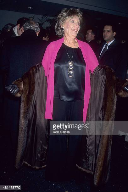 Actress Nancy Marchand attends the Sabrina New York City Premiere on December 11 1995 at the Sony Theatres Lincoln Square in New York City