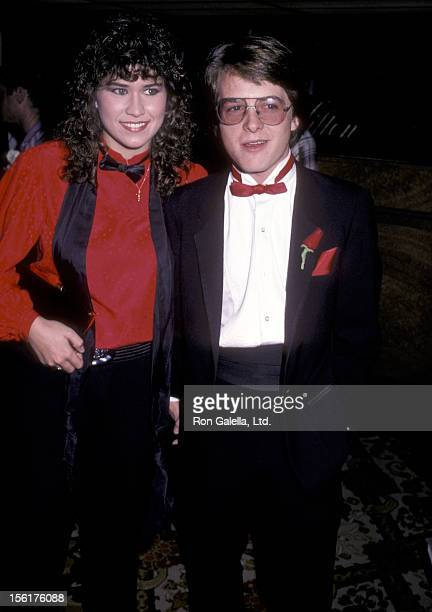 Actress Nancy McKeon and actor Michael J. Fox attend the American Cancer Society Honors on November 17, 1983 at Beverly Hilton Hotel in Beverly...