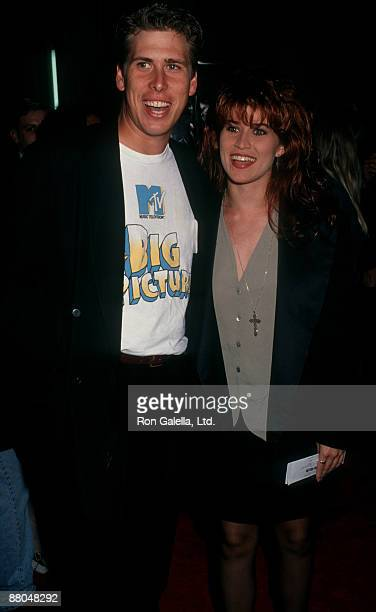 Actress Nancy McKeon and actor Philip McKeon attending Where Day Take You on September 8 1992 at Mann Chinese Theater in Hollywood California