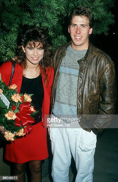 Actress Nancy McKeon and actor Philip McKeon attending Windfeathers Cocktail Party on October 18 1987 at Nicky Blair's in Hollywood California