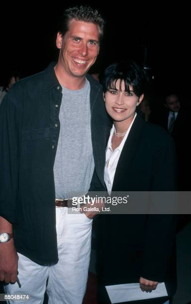 """Actress Nancy McKeon and Philip McKeon attending the premiere of """"Last Dance"""" on April 24, 1996 at the Academy Theater in Beverly Hills, California."""