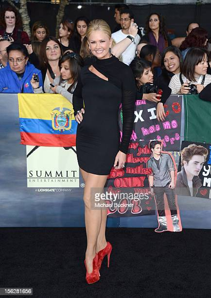 Actress Nancy O'Dell arrives at the premiere of Summit Entertainment's 'The Twilight Saga Breaking Dawn Part 2' at Nokia Theatre LA Live on November...