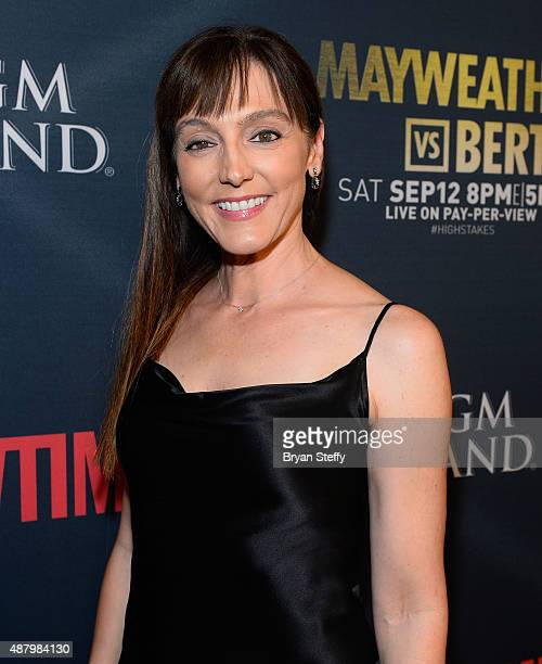 Actress Nancy Pimental arrives at the VIP Pre-Fight Party for 'High Stakes: Mayweather v. Berto' presented by Showtime at MGM Grand Garden Arena on...