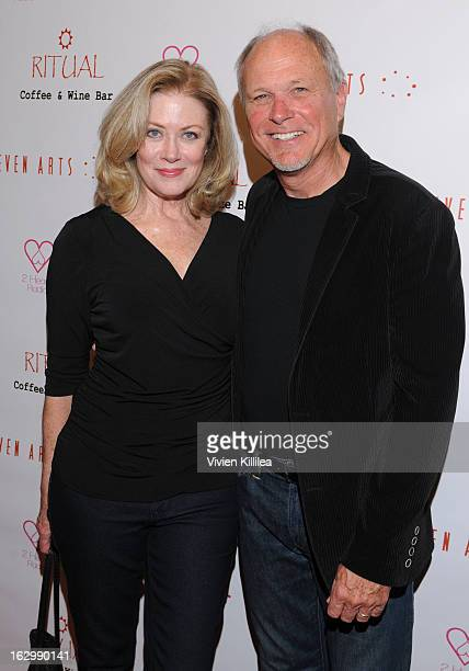 Actress Nancy Stafford and Larry Myers attend Seven Arts Presents The Grand Opening Of Ritual Cafe And Wine Bar on March 2 2013 in Los Angeles...