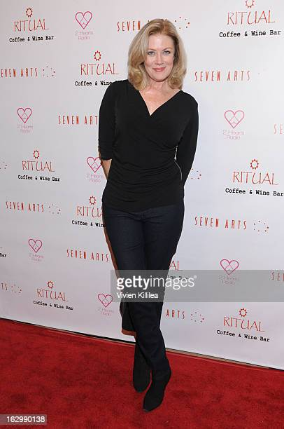 Actress Nancy Stafford attends Seven Arts Presents The Grand Opening Of Ritual Cafe And Wine Bar on March 2 2013 in Los Angeles California