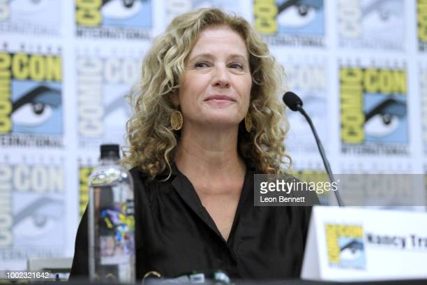 "Actress Nancy Travis attends the Official ""Mr. Mercedes"" Panel At 2018 San Diego Comic-Con at San Diego Convention Center on July 19, 2018 in San..."