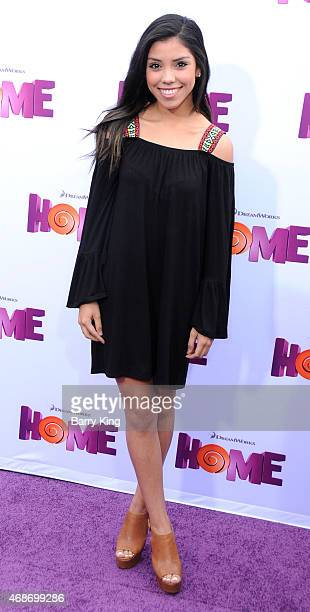 Actress Nandy Martin arrives at Twentieth Century Fox And Dreamworks Animation's 'Home' Premiere at Regency Village Theatre on March 22 2015 in...