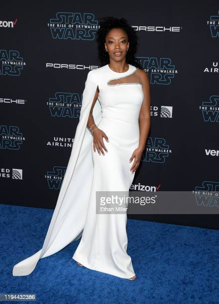 "Actress Naomi Ackie attends the premiere of Disney's ""Star Wars: The Rise of Skywalker"" on December 16, 2019 in Hollywood, California."