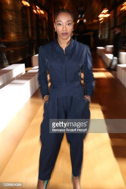 Actress Naomi Ackie attends the Stella McCartney show as part of the Paris Fashion Week Womenswear Fall/Winter 2020/2021 on March 02 2020 in Paris...
