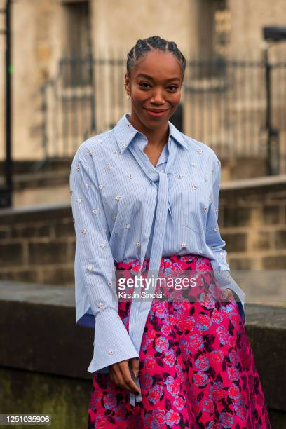 Actress Naomi Ackie wears Valentino on March 01 2020 in Paris France
