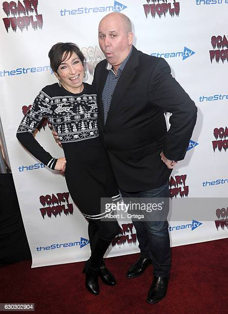 Actress Naomi Grossman and actor James DuMont at the 'Scary People' Holiday Launch Party held at The Streamtv Studio on December 19 2016 in Los...