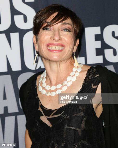 Actress Naomi Grossman attends the Domingo Zapata Fashion Show at the Los Angeles Fashion Week 10th season anniversary at The MacArthur on March 12...