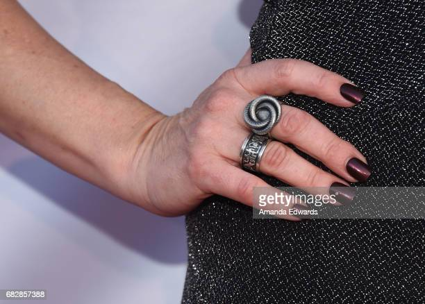 Actress Naomi Grossman ring and manicure detail arrives at the Los Angeles LGBT Center's An Evening With Women event at the Hollywood Palladium on...