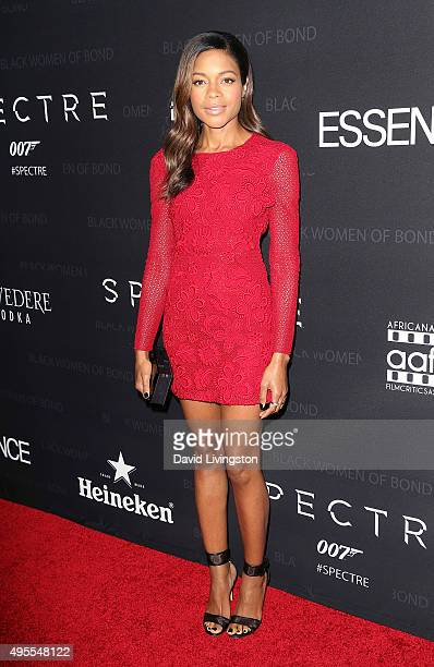 Actress Naomi Harris attends Spectre The Black Women of Bond tribute at the California African American Museum on November 3 2015 in Los Angeles...