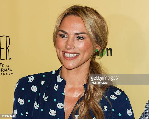 Actress Naomi LowdePriestley attends the celebration for Amazon's Gortimer Gibbon's Live On Normal Street season 2 at Racer's Edge Indoor Karting on...