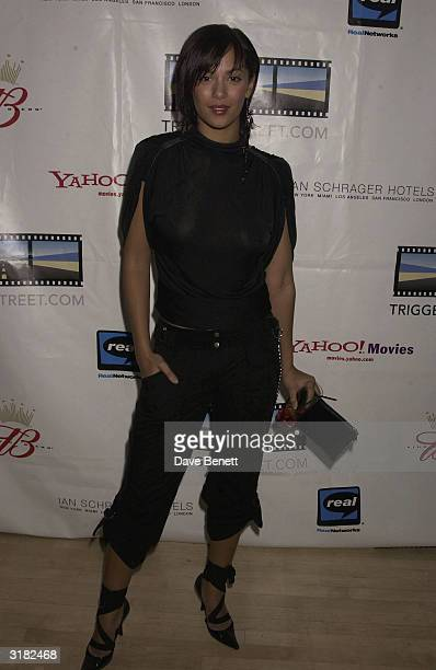 Actress Naomi Russell at the launch party for actor Kevin Spacey's 'Triggerstreetcom' project on 26th November 2002 at Ian Schrager's 'Sanderson...