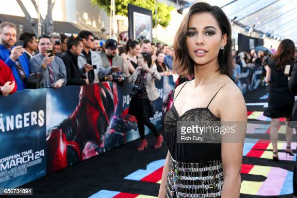 Actress Naomi Scott arrives at the premiere of Lionsgate's 'Power Rangers' at the Westwood Village Theatre on March 22 2017 in Westwood California