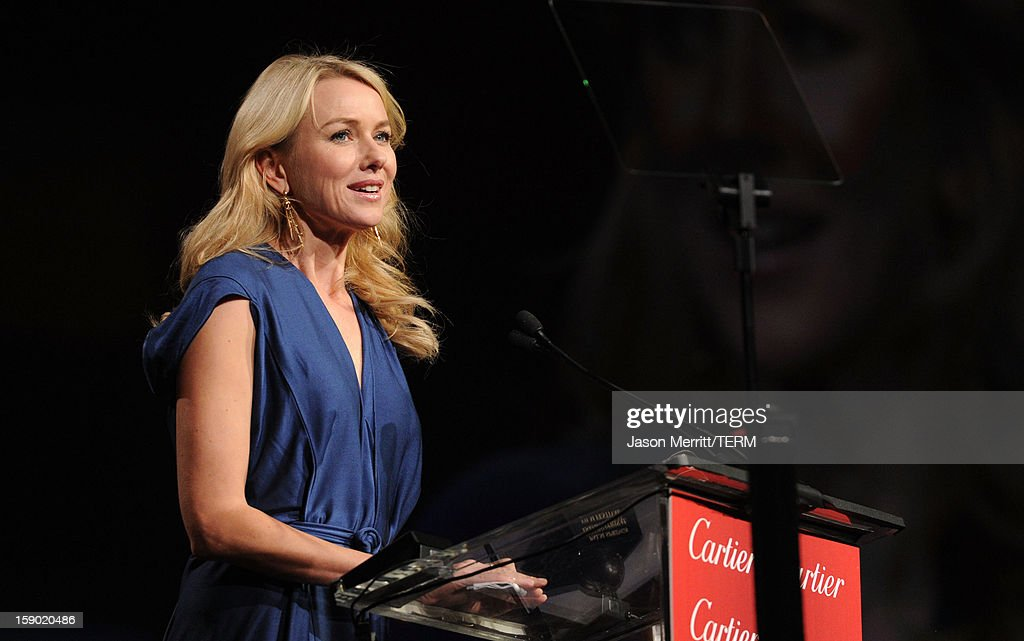 Actress Naomi Watts accepts the Desert Palm Achievement Award onstage during the 24th annual Palm Springs International Film Festival Awards Gala at the Palm Springs Convention Center on January 5, 2013 in Palm Springs, California.