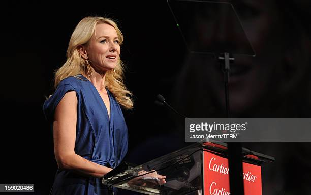 Actress Naomi Watts accepts the Desert Palm Achievement Award onstage during the 24th annual Palm Springs International Film Festival Awards Gala at...