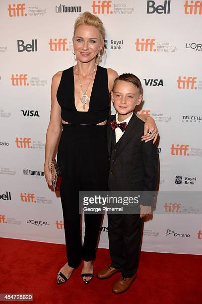 Actress Naomi Watts and actor Jaeden Lieberher attend the St Vincent premiere during the 2014 Toronto International Film Festival at Princess of...
