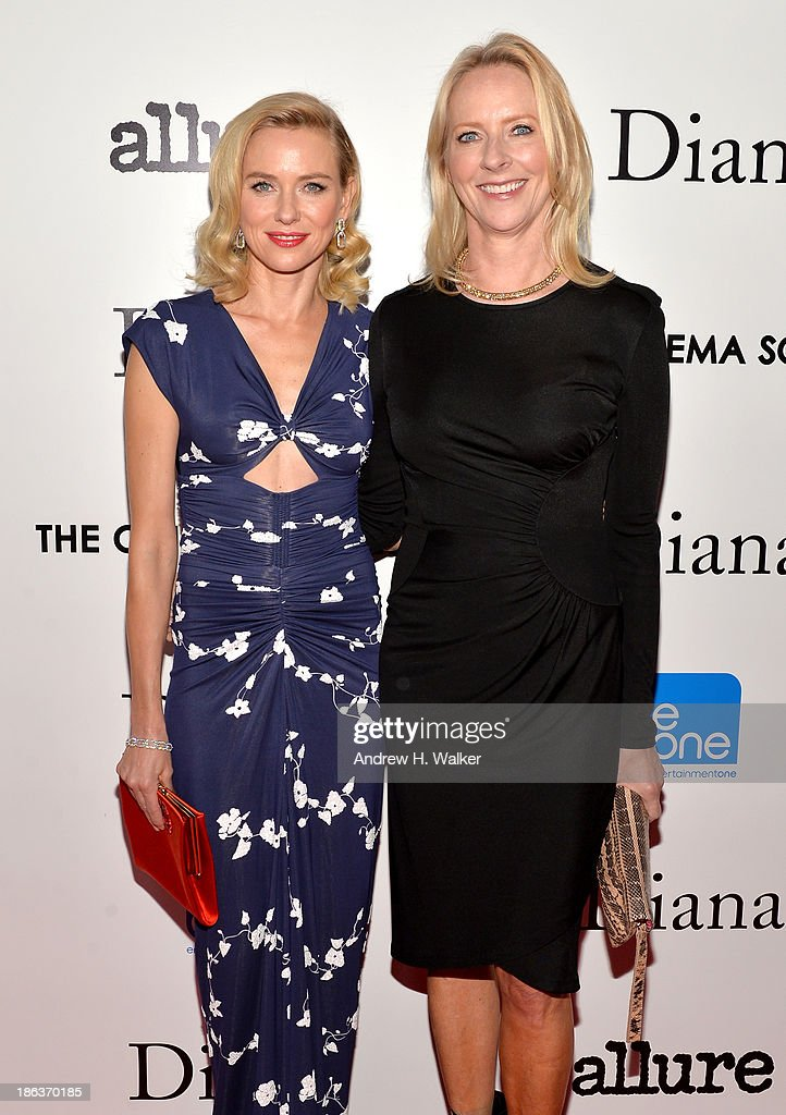 Actress Naomi Watts (L) and Allure Magazine Editor-in-Chief Linda Wells attend the screening of Entertainment One's 'Diana' hosted by The Cinema Society With Linda Wells and Allure Magazine at SVA Theater on October 30, 2013 in New York City.