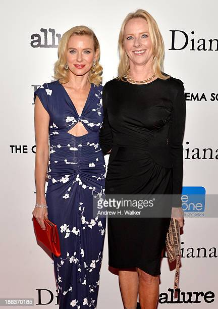 Actress Naomi Watts and Allure Magazine EditorinChief Linda Wells attend the screening of Entertainment One's Diana hosted by The Cinema Society With...