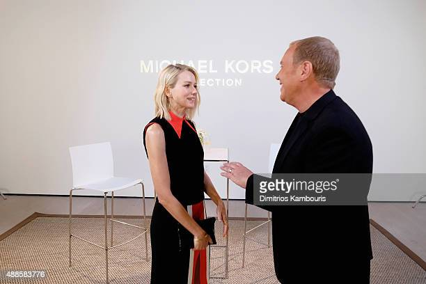 Actress Naomi Watts and designer Michael Kors attend the Michael Kors Spring 2016 Runway Show during New York Fashion Week The Shows at Spring...
