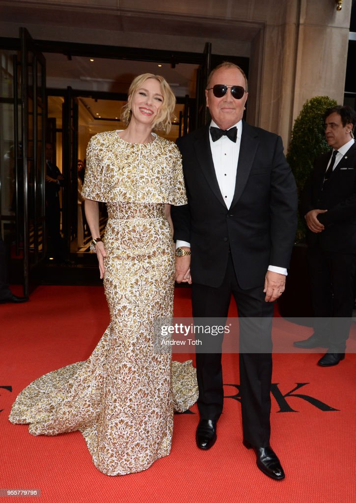 Actress Naomi Watts and Designer Michael Kors attends as The Mark Hotel celebrates the 2018 Met Gala at The Mark Hotel on May 7, 2018 in New York City.
