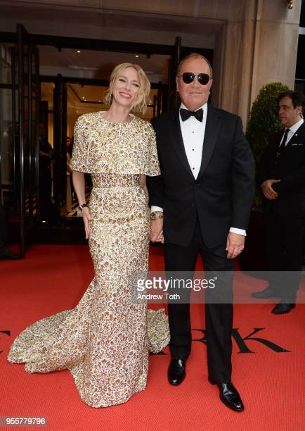 Actress Naomi Watts and Designer Michael Kors attends as The Mark Hotel celebrates the 2018 Met Gala at The Mark Hotel on May 7 2018 in New York City