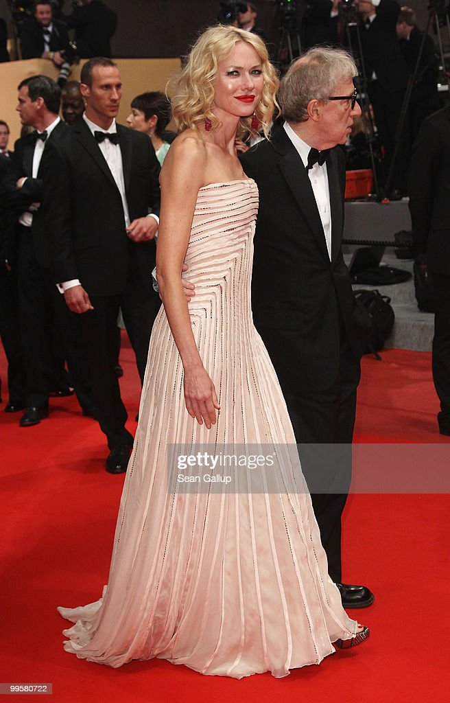 Actress Naomi Watts and Director Woody Allen departs the 'You Will Meet A Tall Dark Stranger' Premiere at the Palais des Festivals during the 63rd Annual Cannes Film Festival on May 15, 2010 in Cannes, France.