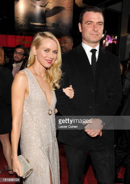 """Actress Naomi Watts and Liev Schreiber arrive at the AFI Fest 2011 Opening Night Gala World Premiere Of """"J. Edgar"""" at Grauman's Chinese Theatre on..."""