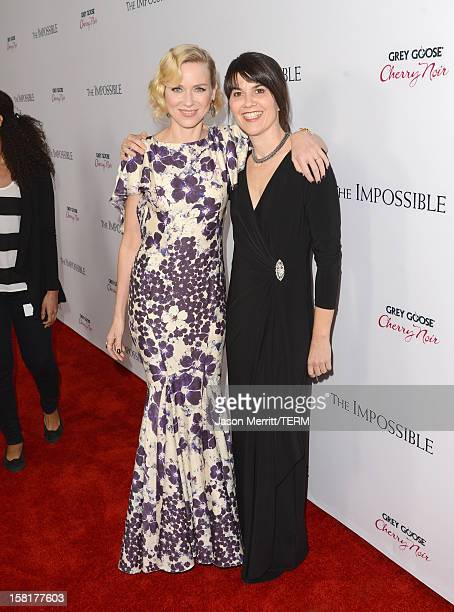 Actress Naomi Watts and Maria Belon attend the Los Angeles premiere of Summit Entertainment's The Impossible at ArcLight Cinemas Cinerama Dome on...