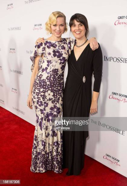 Actress Naomi Watts and Maria Belon attend the Los Angeles Premiere of The Impossible presented by Grey Goose Vodka at ArcLight Cinemas on December...