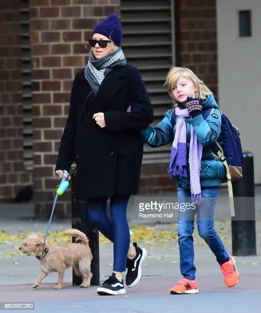 Actress Naomi Watts and son Samuel 'Sammy' Kai seen walking in Soho on November 27 2017 in New York City