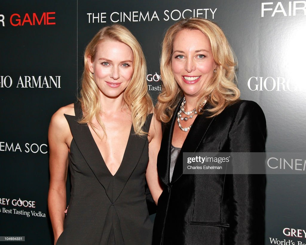 Actress Naomi Watts and Valerie Plame Wilson, former CIA Operations Officer attend Giorgio Armani & The Cinema Society's screening of 'Fair Game' at The Museum of Modern Art on October 6, 2010 in New York City.
