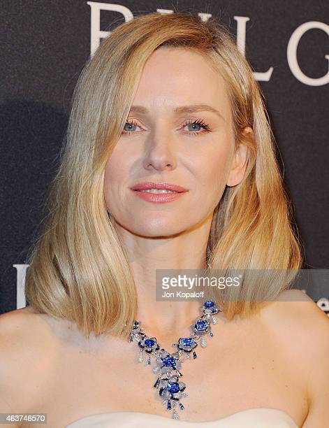 Actress Naomi Watts arrives at BVLGARI And Save The Children STOP THINK GIVE PreOscar Event at Spago on February 17 2015 in Beverly Hills California