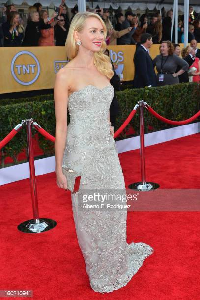 Actress Naomi Watts arrives at the 19th Annual Screen Actors Guild Awards held at The Shrine Auditorium on January 27 2013 in Los Angeles California