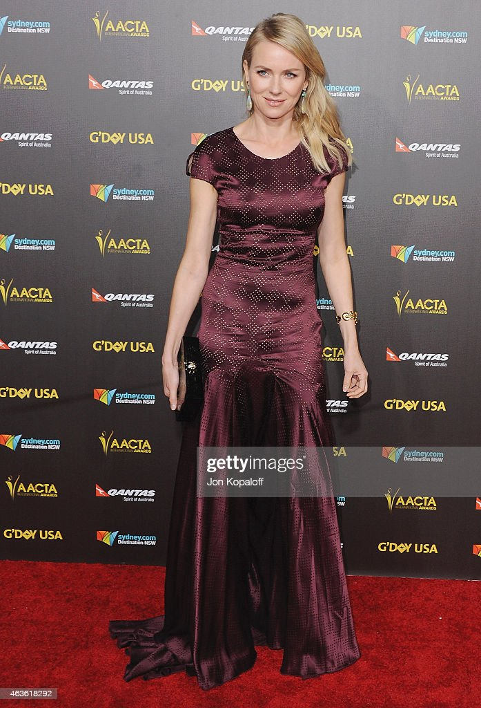 Actress Naomi Watts arrives at the 2015 G'Day USA Gala Featuring The AACTA International Awards Presented By Quantas at Hollywood Palladium on January 31, 2015 in Los Angeles, California.