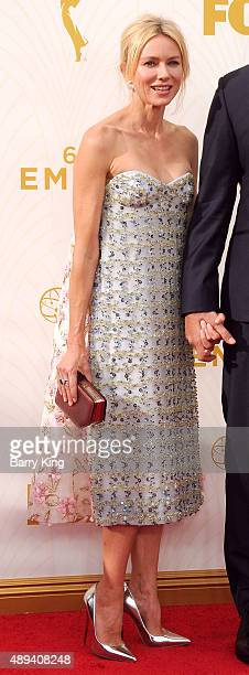 Actress Naomi Watts arrives at the 67th Annual Primetime Emmy Awards at the Microsoft Theater on September 20 2015 in Los Angeles California