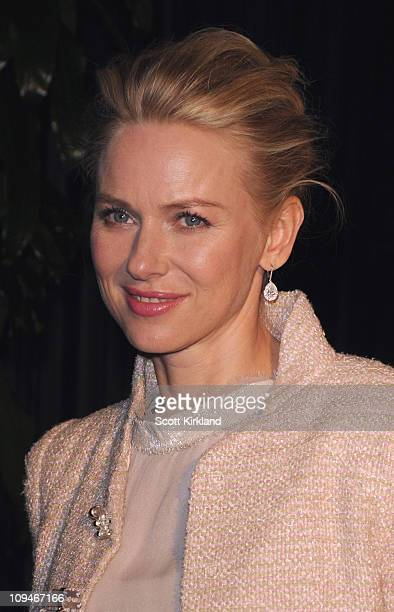Actress Naomi Watts arrives at the Chanel Charles Finch PreOscar Dinner Celebrating Fashion Film at Madeo Restaurant on February 26 2011 in Los...