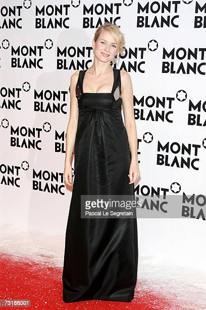 Actress Naomi Watts arrives at the Montblanc 'Night Of The Stars' Gala for the world premiere of the Montblanc Diamond Jewellery range on February 2,...