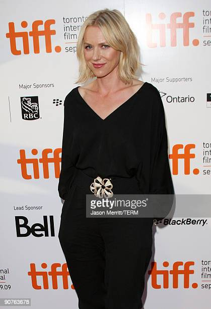 "Actress Naomi Watts arrives at the ""Mother and Child"" screening during the 2009 Toronto International Film Festival held at Roy Thomson Hall on..."