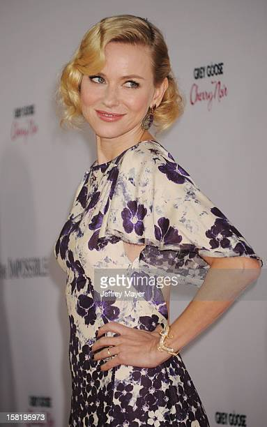 Actress Naomi Watts arrives at the 'The Impossible' Los Angeles Premiere at ArcLight Cinemas Cinerama Dome on December 10 2012 in Hollywood California