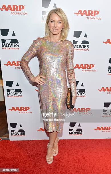 Actress Naomi Watts attends 13th Annual AARP's Movies for Grownups Awards Gala at Regent Beverly Wilshire Hotel on February 10 2014 in Beverly Hills...