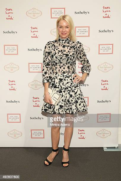 Actress Naomi Watts attends 2015 Take Home a Nude Art Auction and Party at Sotheby's on October 15 2015 in New York City