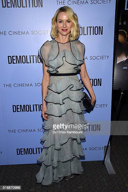 Actress Naomi Watts attends a screening of Demolition hosted by Fox Searchlight Pictures with the Cinema Society at the SVA Theater on March 21 2016...