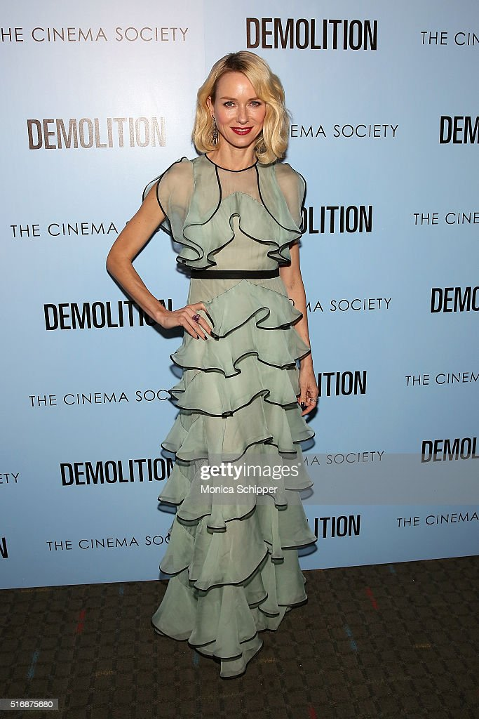 Actress Naomi Watts attends a screening of 'Demolition' hosted by Fox Searchlight Pictures with The Cinema Society at SVA Theatre on March 21, 2016 in New York City.
